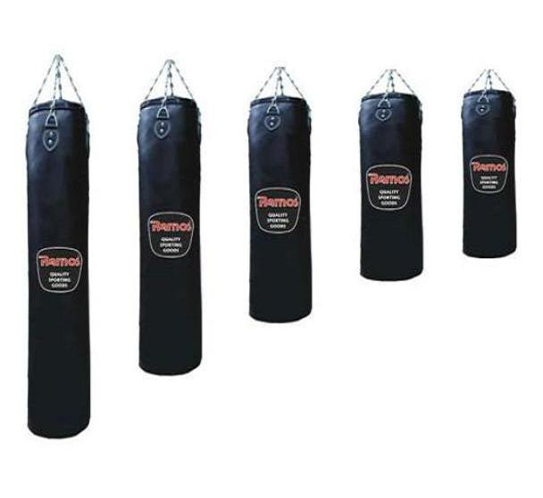 image of Σάκος Πυγμαχίας Boxing γεμάτος 90x30 cm Δέρμα Split Ramos