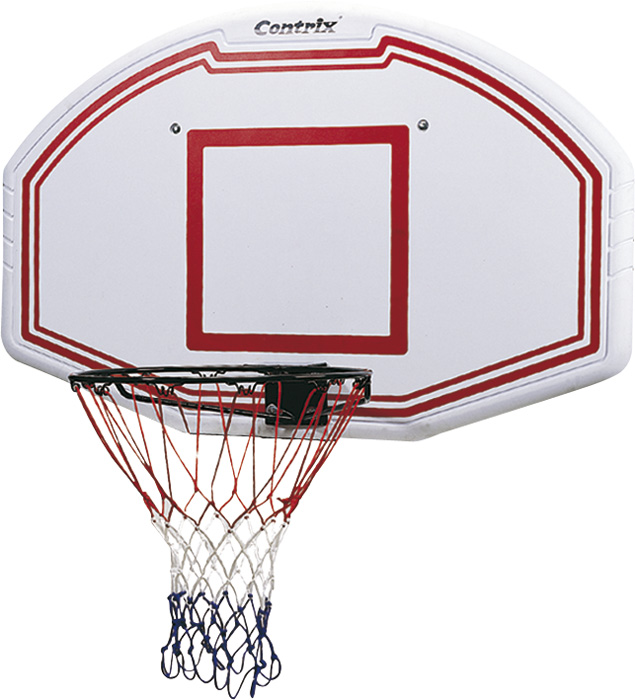 image of Ταμπλό μπάσκετ 112 x 72 cm με Στεφάνι  μασίφ Amila 49196