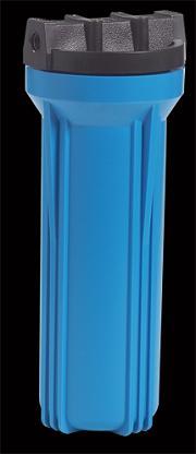 """Δοχείο Φίλτρου νερού μπλέ Κεντρική Παροχή Σύνδεση 1/2"""""""