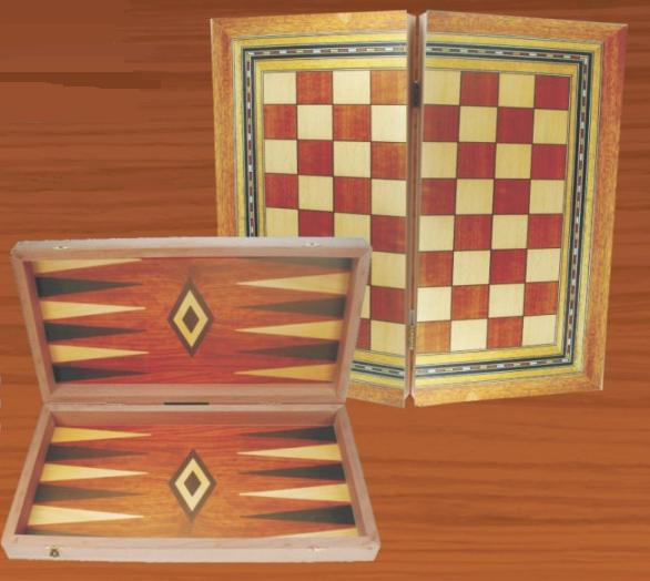 Ξύλινο Τάβλι & Σκάκι Κλασσικό μεγάλο 48 Χ 50 cm