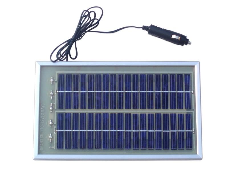 Ηλιακός Φορτιστής Μπαταρίας Αυτοκινήτου - 160mA