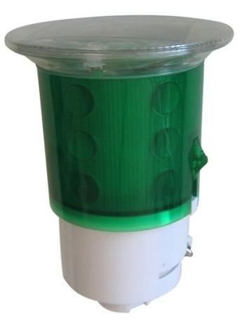 Ηλιακός Φανός 18 LED, Πράσινος