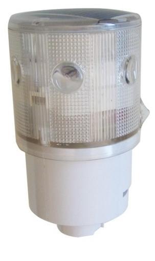 Ηλιακός Φανός 6 LED, Λευκός (με αναλαμπές)