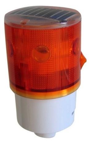 Ηλιακός Φανός 6 LED, Κίτρινος (με αναλαμπές)