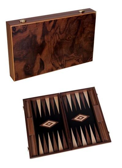 Ξύλινο Τάβλι Βαλίτσα Ρίζα Καρυδιάς μεγάλο 48 Χ 60 cm
