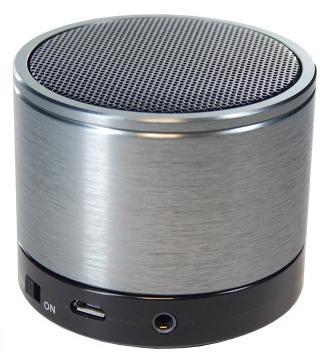 Bluetooth Portable Speaker ασημί OEM 340