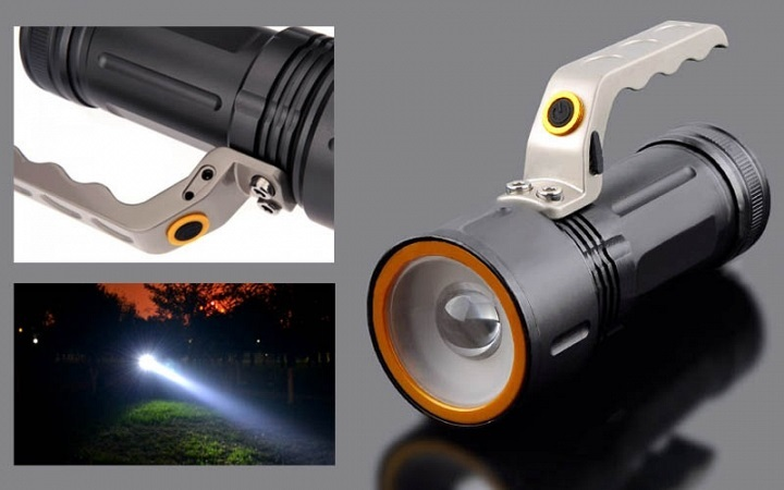 Επαναφορτιζόμενος φακός Cree LED police 800 Lumen με 3 επίπεδα φωτεινότητας OEM 27529