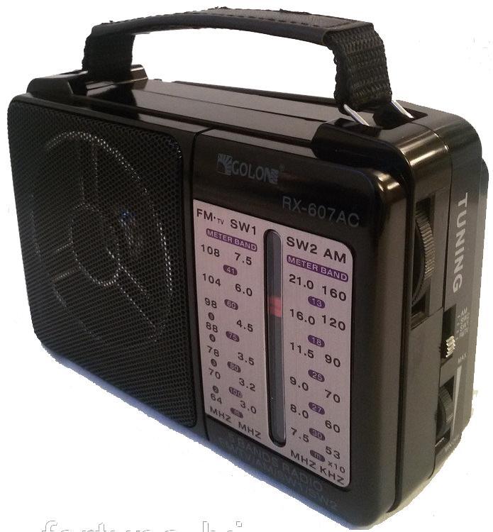 Ηλεκτρικό φορητό ραδιόφωνο Golon RX-607AC