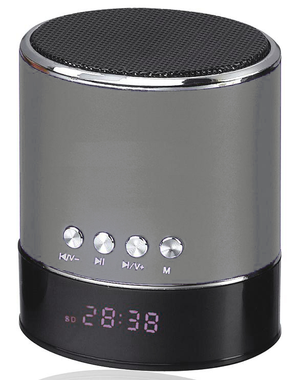 Mini Bluetooth Multimedia Speaker Player Hands Free ασημί OEM WS-633B1