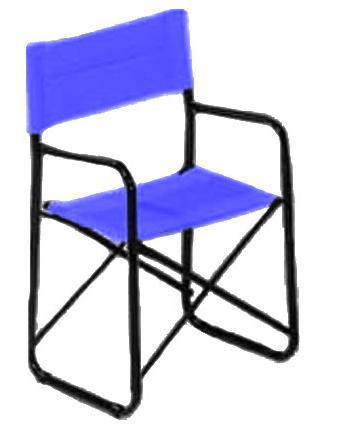 Πολυθρόνα σκηνοθέτη Μπλε μεταλλική Φ 26 με PVC ηλεκτροστατική βαφή Ελληνική Κατασκευής  Nardimaestral