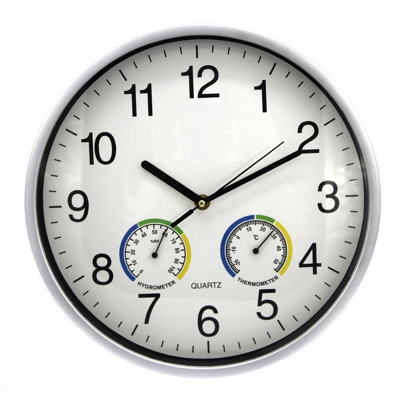 Ρολόι Τοίχου 30 cm με Υγρόμετρο και Θερμόμετρο OEM 0AA28 83091132cbb