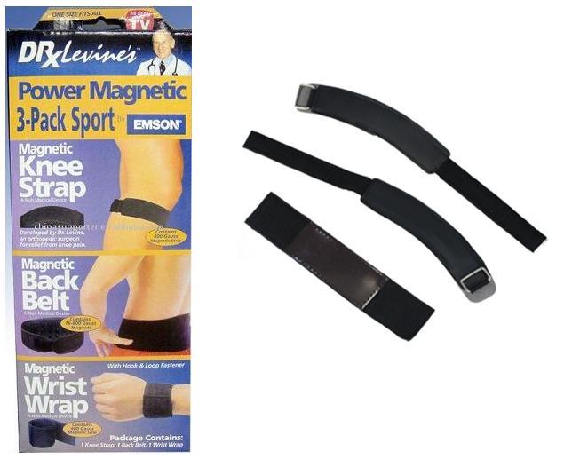 Σετ 3 μαγνητικών ζωνών για το γόνατο τον καρπό και την μέση Power Magnetic Sport