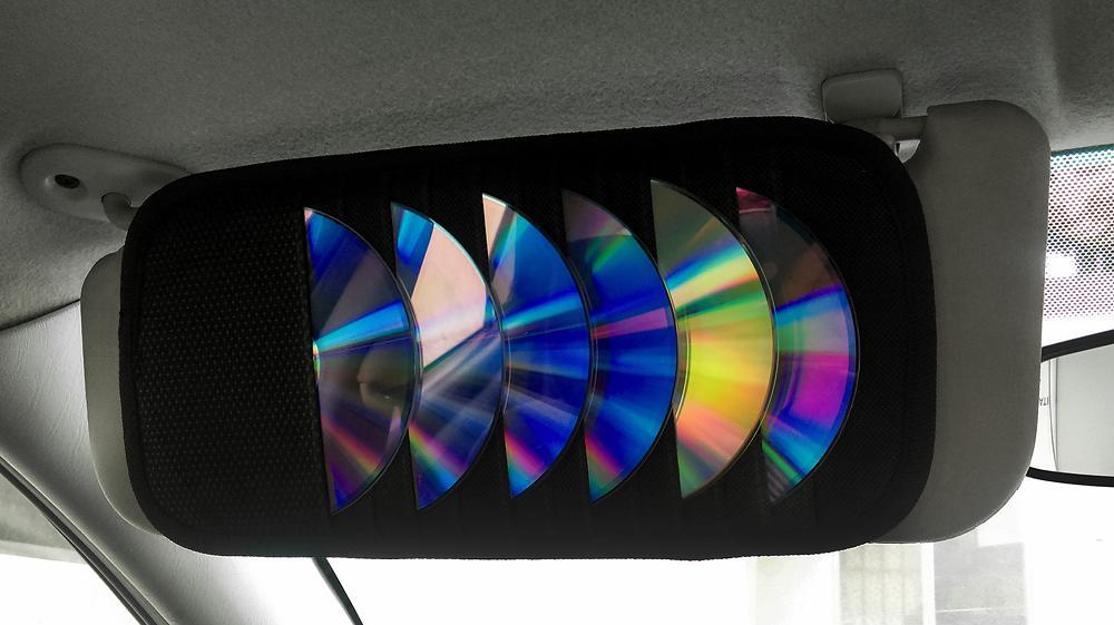 Θήκη αποθήκευσης 12 CD/DVD για το αυτοκίνητο ZIYOUI