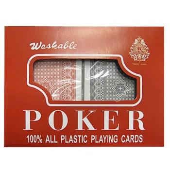Τράπουλα διπλή 100% πλαστική Royal Plastic Playing Cards