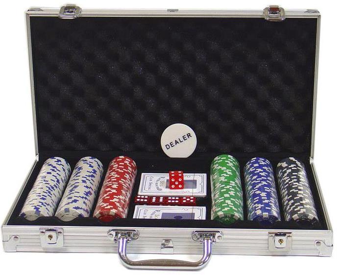 Βαλίτσα Πόκερ με 300 μάρκες και 2 τράπουλες
