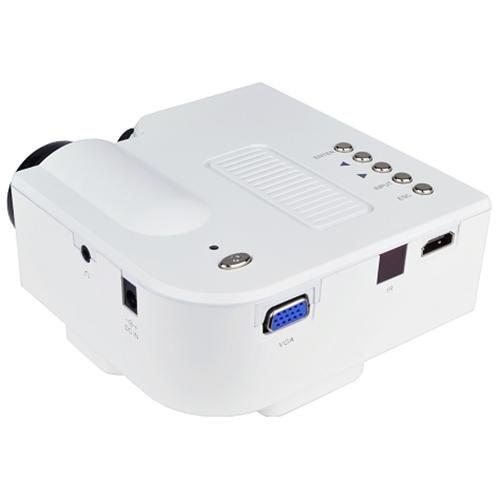 Φορητός Προβολέας άσπρος Mini Led HD Star View Multimedia Projector UC28+ HDMI OEM GP-1