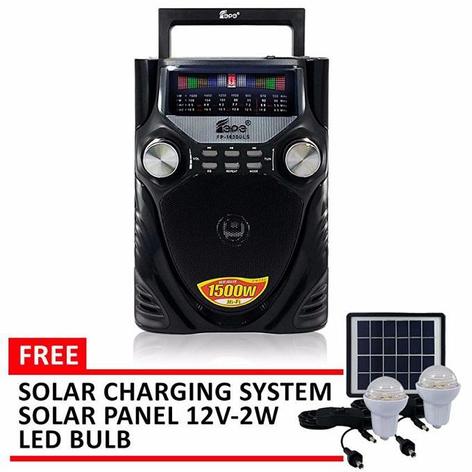 Φορητό ηλιακό ραδιόφωνο 1500W FM AM SW1-2 4 με USB SD TF Music Player OEM FP-163OULS