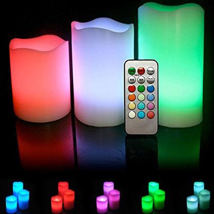 Φωτιζόμενα Κεριά LED Σετ 3τμχ με Τηλεχειριστήριο OEM 6312