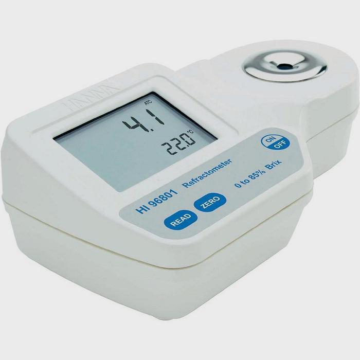 Ψηφιακό Διαθλασίμετρο για μέτρηση σακχάρων % Brix σε Σιρόπια, Γλυκά - καφέ HANNA HI 96801
