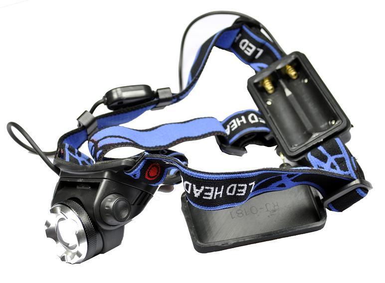 Επαναφορτιζόμενος φακός κεφαλής LED 1200 Lumens Cree XM-L T6 OEM GJ-604