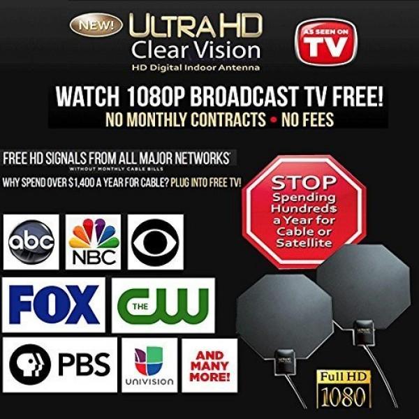 Εσωτερική Ψηφιακή Κεραία Υψηλής Ευκρίνειας UltraHD Clear Vision OEM HDTV X71
