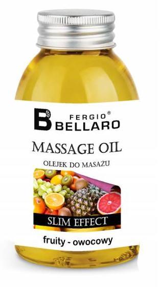 Λάδι μασάζ με αδυνατιστική δράση φρουτώδες 200 ml Bellaro Fergio Fruty