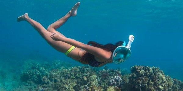 Ολοπρόσωπη Μάσκα θαλάσσης με Αναπνευστήρα & Βάση Κάμερας  Sub Full Face Snorkel Mask 850