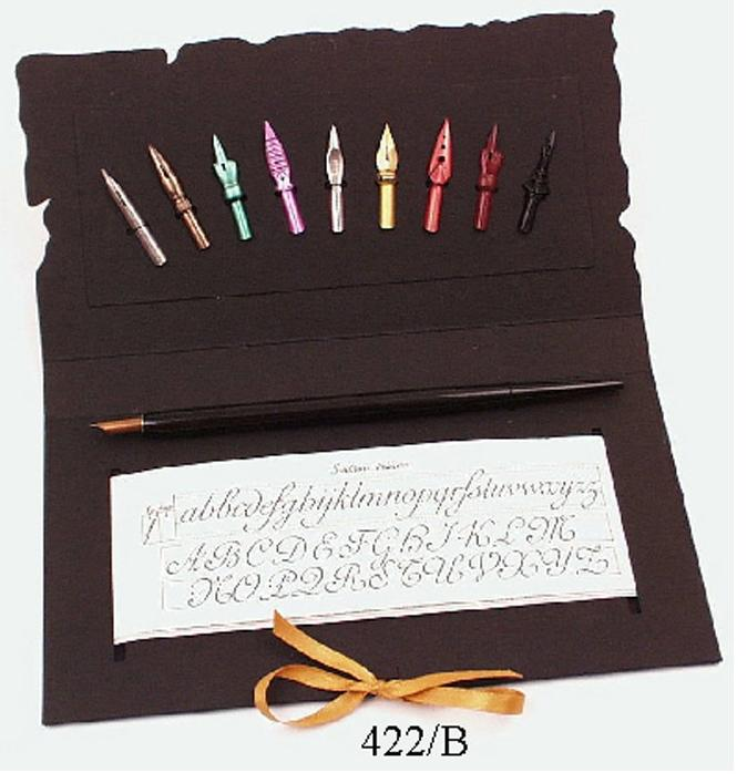 Πένας γραφής κονδυλοφόρος ξύλινος με 10 μύτες Francesco Rubinato 422/B