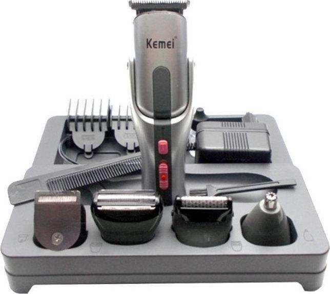 Σετ Κουρευτικής και Ξυριστικής Μηχανής για Μαλλιά και Γένια 8 σε 1 Kemei  KM-680A ... feab2301844