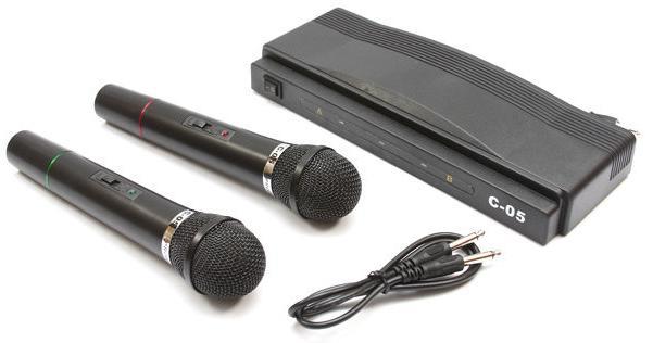 Συσκευή Karaoke με δύο ασύρματα μικρόφωνα wireless Herostar C-05