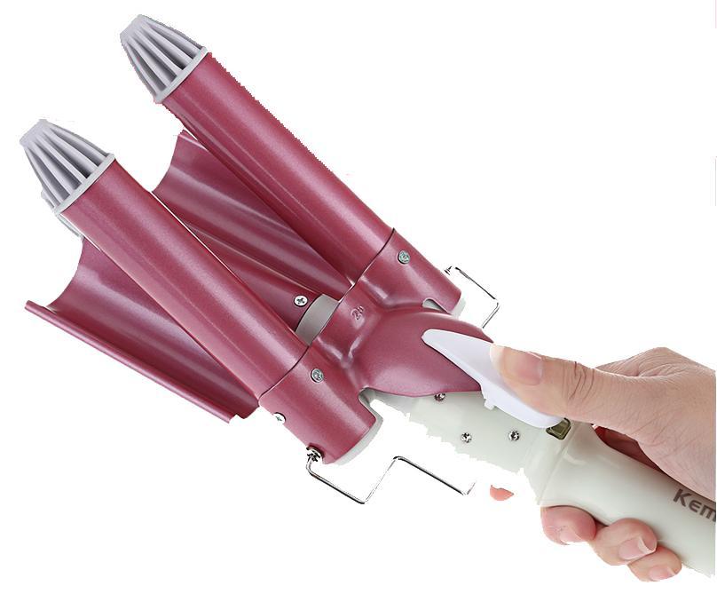 Τριπλό Ηλεκτρικό Ψαλίδι Μαλλιών Τουρμαλίνης για μπούκλες 25mm KEMEI KM-926 a9972a91d3f