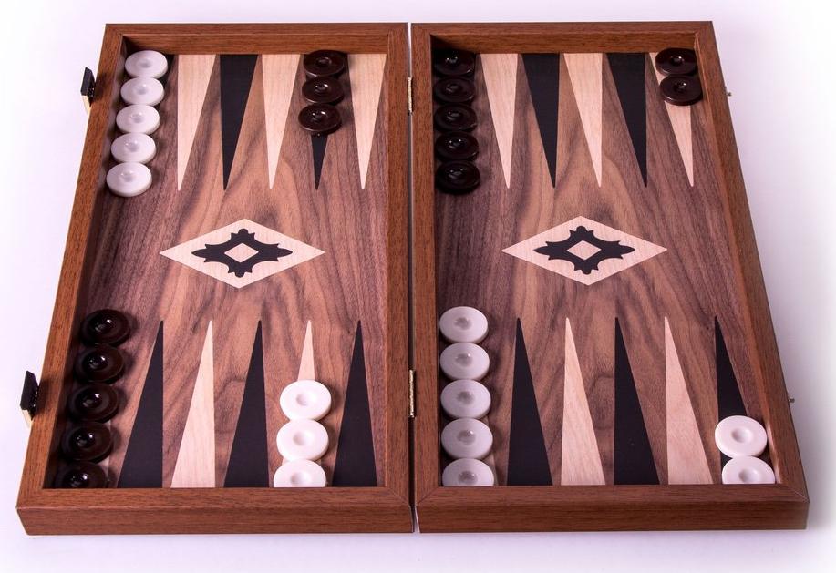 Χειροποίητο τάβλι 48 x 52cm από ρέπλικα ξύλου καρυδιάς MANOPOULOS TXL1KK