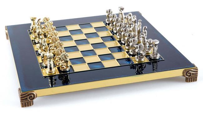 Χειροποίητο μεταλλικό σετ σκακιού με Ελληνικά αγάλματα τέχνης S2