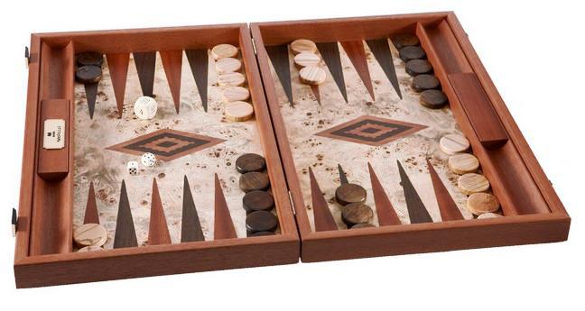 Χειροποίητο τάβλι 48 x 60cm Lupo-ξύλο ελιάς με πλαϊνές θήκες MANOPOULOS BLL1