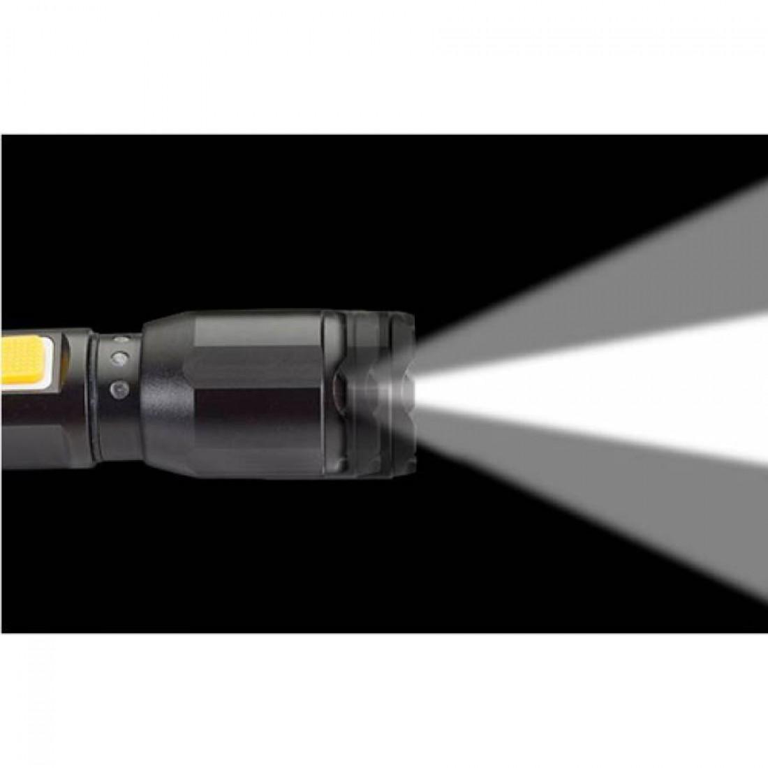 Φακός αλουμινίου επαναφορτιζόμενος με εστίαση δέσμης CREE LED 120 Lumens  CAT CT2105
