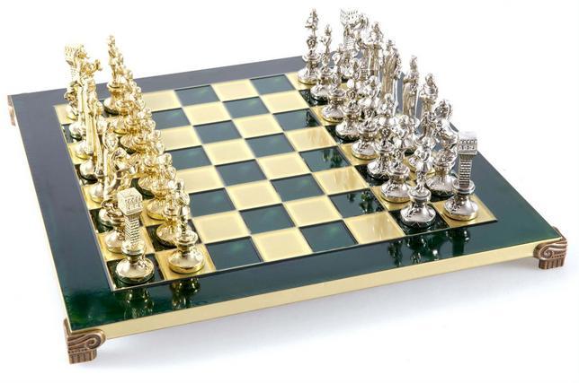 Χειροποίητο μεταλλικό σετ σκακιού της αναγέννησης S9