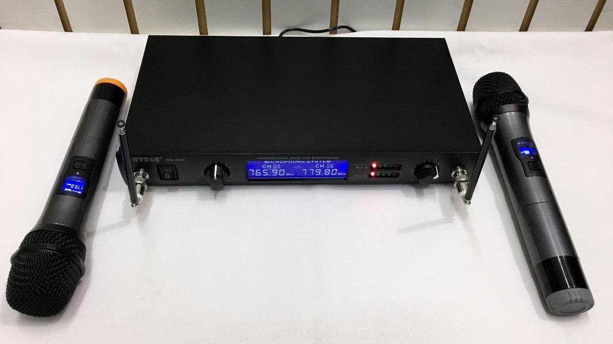 Επαγγελματική Συσκευή Karaoke UHF με Δύο Ασύρματα Μικρόφωνα  WVNG WG-4000