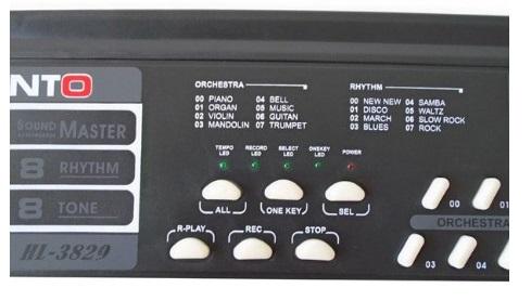 Παιδικό Αρμόνιο 44 Πλήκτρων με Ρυθμούς, Εφέ & Μικρόφωνο Καραόκε CANTO HL-3829