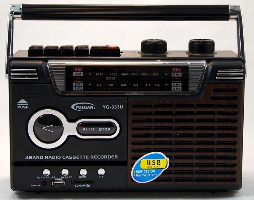 Ραδιοκασετόφωνο Φορητό με USB/SD Mp3 Player, Ρεύματος και Μπαταρίας YUEGAN YG-3330