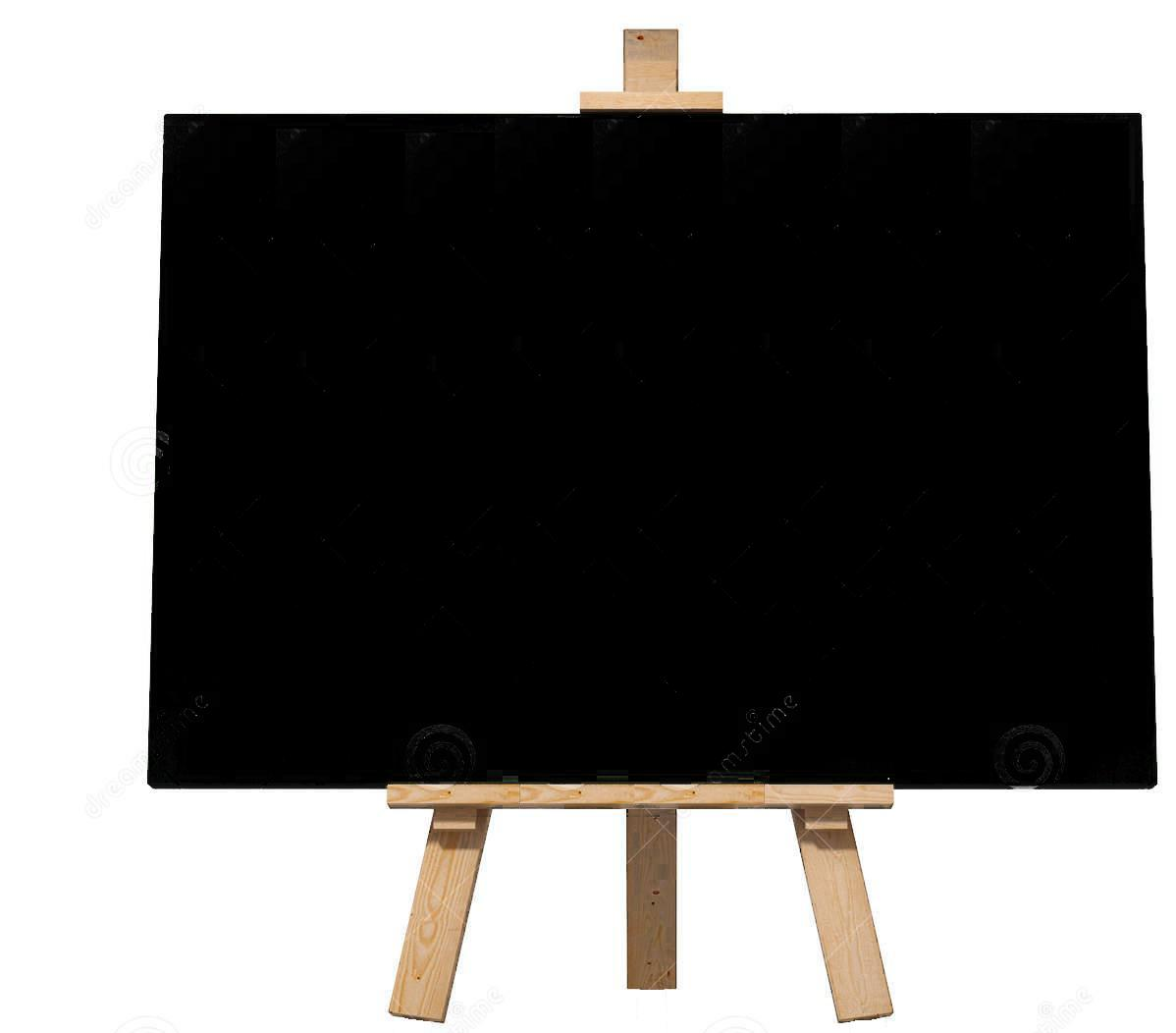 Μίνι Μαύρος πίνακας με ξύλινο τρίποδο 24x20cm Foska