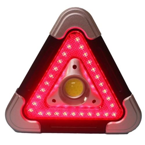Φωτιζόμενο Τρίγωνο Ασφαλείας Αυτοκινήτου &  Επαναφορτιζόμενος Φακός Εργασίας Hurry bolt HB-6609