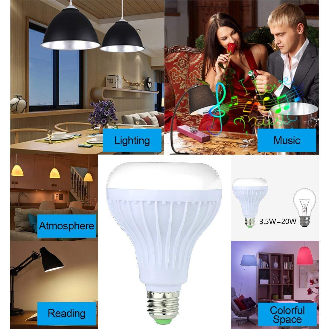 Λάμπα LED Έγχρωμη RGB E27 με Bluetooth 4.0 και μουσική Led Music Bulb