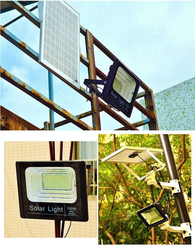 Αδιάβροχος Ηλιακός Προβολέας 100W Με Φωτοβολταϊκό Πάνελ, Τηλεκοντρόλ & Χρονοδιακόπτη OEM JD-8800