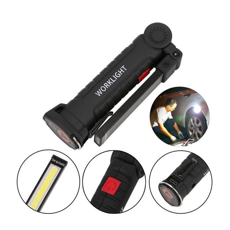 Επαναφορτιζόμενος Φακός LED με Μαγνητική Βάση & Γάντζο