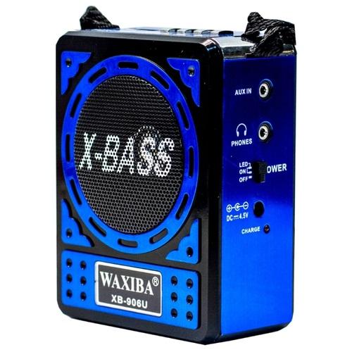 Φορητό επαναφορτιζόμενο ραδιόφωνο / Mp3 player με ηχείο 1.5w X-BASS WAXIBA XB-906U