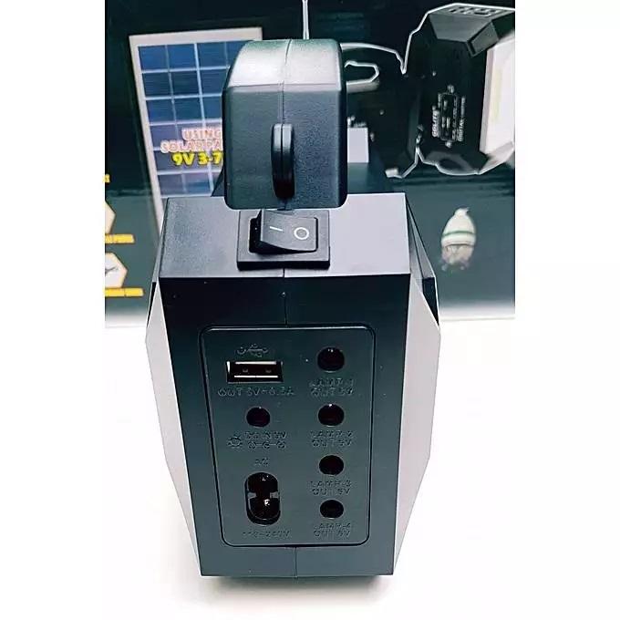 Ηλιακό Ψηφιακό κιτ φωτισμού με 3 λαμπτήρες και ηλεκτρικής ενέργειας GDLite GD-8051