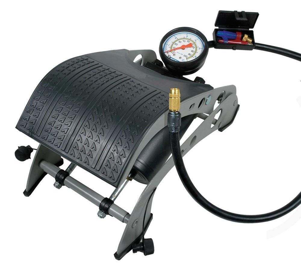 Τρόμπα αέρος αντλία πεντάλ αέρα 7 bar με μανόμετρο OEM 9501