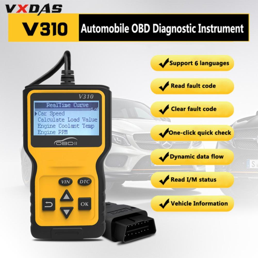 Διαγνωστικό Βλαβών Αυτοκινήτου σαρωτής με ψηφιακή οθόνη V310 OBDII EOBD