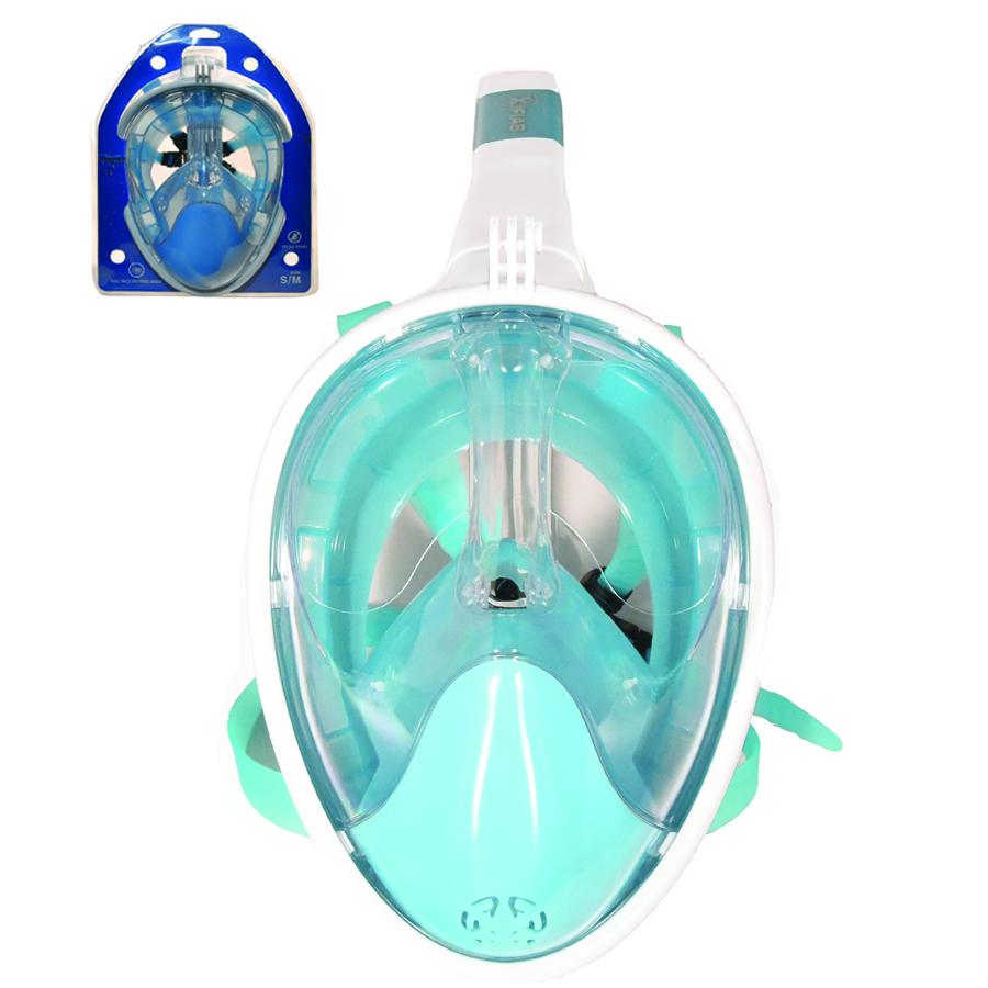 Παιδική Ολοπρόσωπη Μάσκα με Αναπνευστήρα και Βάση για Action Camera Sub Full Face Snorkel Mask Xifias 849