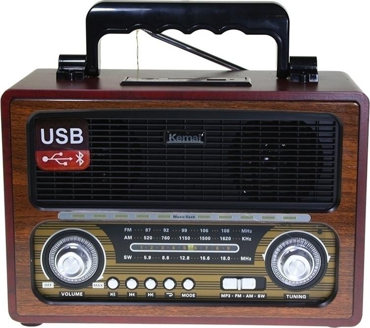 Retro Ραδιόφωνο επαναφορτιζόμενο Regh/USB Bluetooth Kemai MD-1800BT